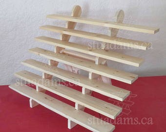 """7-Shelf 32"""" Extra-wide collapsible riser portable display stand store countertop display craft show display shelf trade show"""