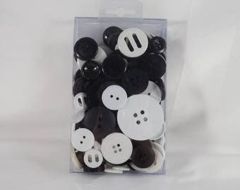 Tuxedo 4 oz. Assorted Buttons Assorted Sizes