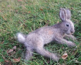OOAK needle felted brown bunny rabbit