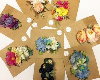 Flower clips / grab bag / surprise flower clips / baby hair clips / adult flower clips