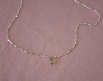 Sterling Silver Healing Gem Necklace Andalusite Gemstone Spiritual Chain Necklace