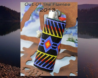 Bead PATTERN Amitola Lighter Cover Peyote or Brick Stitch