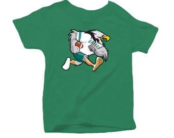 Retro Philadelphia Bird Football Inspired Toddler Tee Shirt