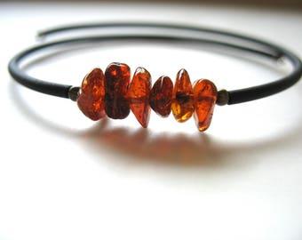 Amber Bracelet, Baltic Amber Stone Bracelet, Handmade Artisan Gemstone Jewelry, Amber Jewelry, Gemstone Jewelry