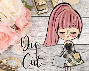 Die Cut- Cute Dolls- Shopping