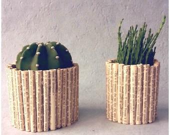 Book paper pots