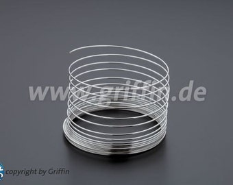 Craft wire, 0. 8mm, silver plated, 6m, modeling wire, jewelry wire