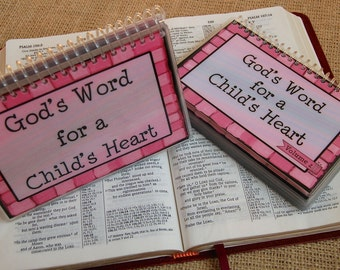 SALE - God's Word for a Child's Heart Combo Set - Volume 1 AND Volume 2, Spiral-Bound, Laminated Cards