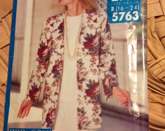 Vintage Butterick Pattern No. 5763 See & Sew Now Jacket and Dress Sizes 16 to 24 Pattern