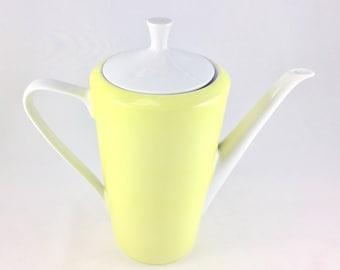 Yellow mid century teapot, 60s
