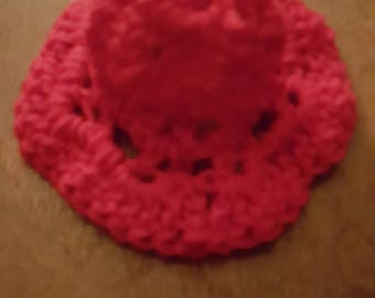 Crochet red bell ornament