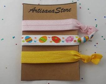 Hair Ties / Elastic Ties / Elastic Hair Ties / Easter Hair Ties