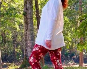Womens leggings, leggings pattern, leggings sewing pattern, women's leggings PDF sewing patterns, seamingly smitten leggings, yoga leggings
