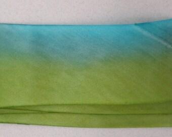 Silk Ribbon Hand Dyed bias-cut