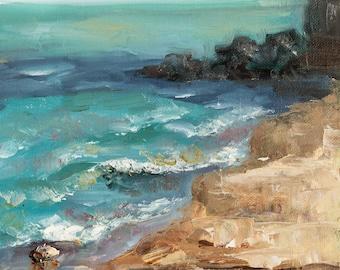 Hartigan Beach - Original Plein air Painting