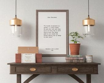 John Steinbeck, Book Quotes, Wall Art, Home Decor, Inspiring Quotes, Vintage Art, Minimalist Art, Literary Art,