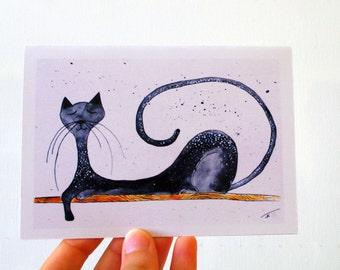 Joyeux anniversaire chat drôle carte d'anniversaire pour lui, les cartes de voeux chats drôle carte de voeux d'anniversaire carte drôle pour sa carte drôle