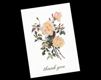 Thank You Cards - Bridal Shower - Wedding - Blank Thank You Cards - Note Cards - Floral - Set of 20