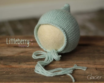 Newborn Pixie Bonnet ~ GLACIER ~ Photography Prop ~ RTS ~ Ready To Ship!