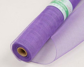 Purple Floral Mesh Wraps 21in x 10yd Poly Mesh Roll, Purple Mesh Decor, Floral Mesh, Deco Mesh Wreaths, Christmas Wreaths, Decorating Mesh