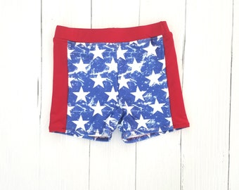 Boys Swim Trunks - 4th of July Swimsuit - Euro Swim Shorts - Boys Swimsuit - Swim Shorts for Boys - Toddler Swim Shorts - Swimsuit