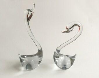 Murano Glass Swans