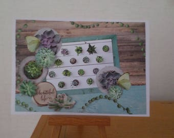 card for any occasion with collage papers and 3D