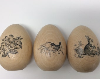Wooden Eggs, Easter Eggs, Spring Decor, Easter Decor