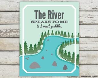 River, River Signs, River Nursery, River Print, River Poster, River Art, Nature Prints, Nature Quote, Nature Poster, River Quote, Nature