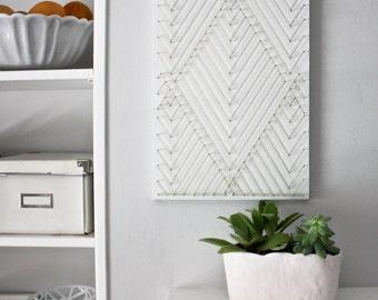 Geometric Wall Art, Modern Wall Art, Minimalist Wall Art, Living Room Wall  Art, Bedroom Wall Art, White And Gold, Wall Hanging, Home Decor