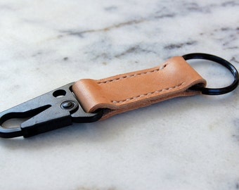 Personalized Military Leather Keychain, Custom Handmade Keychain Keyring Keyfob