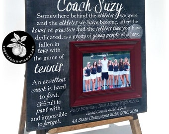 Tennis Coach Gift, Tennis Gifts for Women, Coach Thank You Gift, Tennis Senior Gifts, Tennis Coach Frame, 16x16 The Sugared Plums Frames
