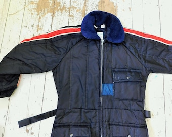 Vintage, 1970's, Snowmobile Suit, Zero-Zone, Insulated, One-Piece Suit, Large 42-44, Made in USA