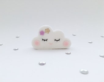 Wooden figure, cloud, lilac, Small
