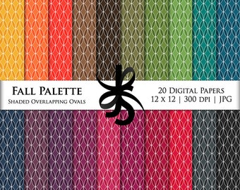 Digital Scrapbook Papers-Fall Palette Oval Lattice-Autumn-Thanksgiving-Clipart-Backgrounds-Wallpaper-Printable-Instant Download Clip Art
