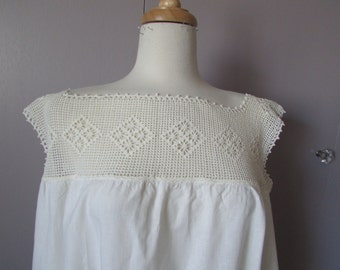 Victorian Crocheted Top Night Gown
