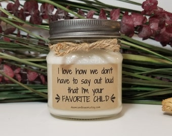Birthday Gift for Mom - 8oz Soy Candles Handmade - Father's Day Gift - Gift for Mom Wedding Day - Personalized Gift - Gift for Dad
