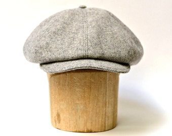 Men's Newsboy Hat - Wool Newsboy Cap - CHOOSE YOUR WOOL - Made to Order