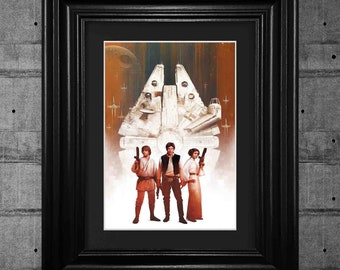Star Wars Millennium Falcon Movie Poster Print Pop Art Framed Wall Art Tribute Collectible Quality Gifts For Her Gifts For Him #17