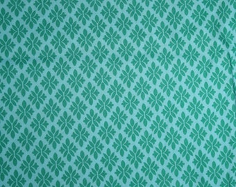 Jennifer Paganelli cotton quilting fabric pretty please jade sky blue green clearance destash out of print