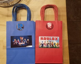 Roblox Favor Bags Goodie Bags Birthday Surprise Party Favor - Set of 10 - Made to order