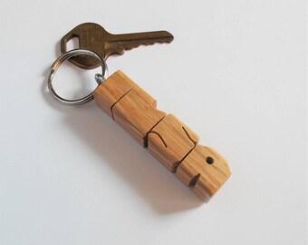 ILSA - Sample Name Keychain in Oak Wood