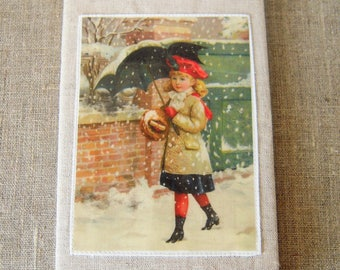Notebook, folder girl under the snow