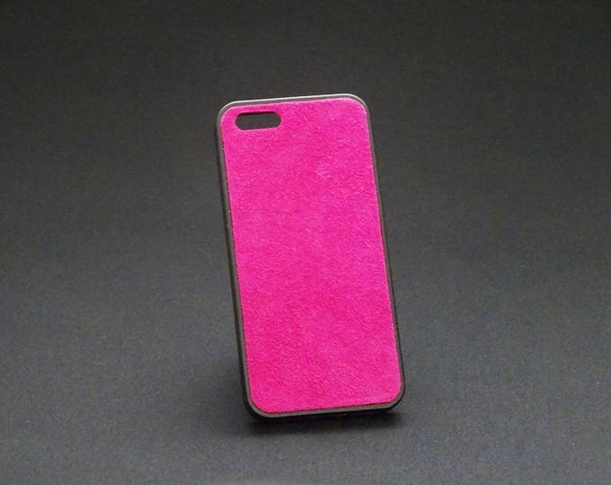 Apple iPhone 5 5S 5SE - Jimmy Case in Rich Pink Suede - Kangaroo leather - Handmade - James Watson