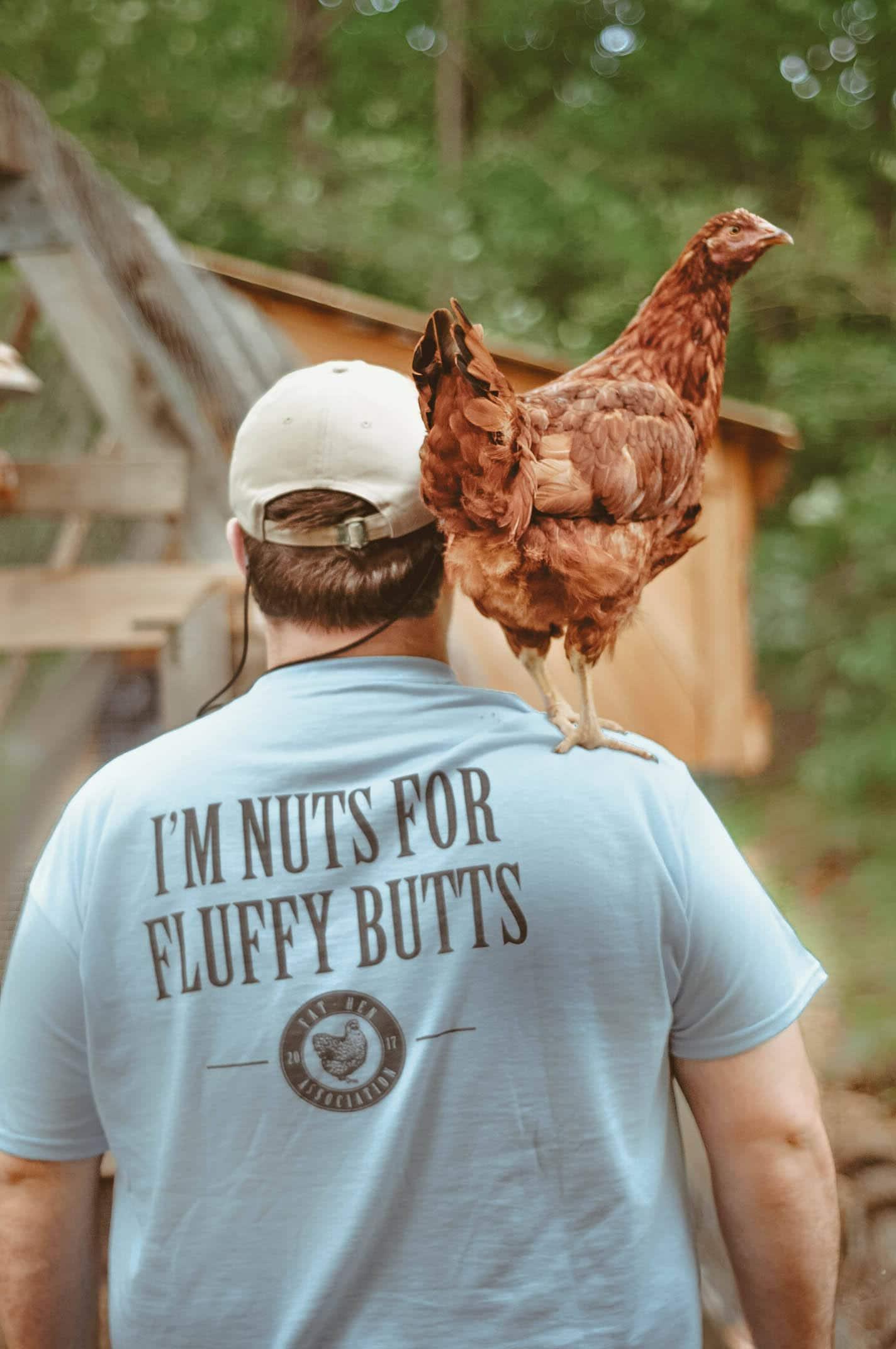 Chicken Shirt Nuts For Fluffy Butts ORIGINAL BLUE