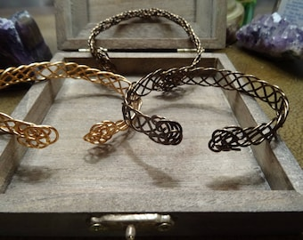Bronze Celtic Bracelet, Reversible Celtic Bracelet, Adjustable Celtic Bracelet, Nordic Brass Copper Bracelet, Celtic Jewelry