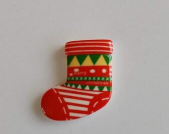 Christmas Stocking Magnetic Needle Minder / Needle Nanny