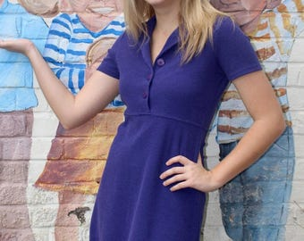 Vintage Purple Mini Dress