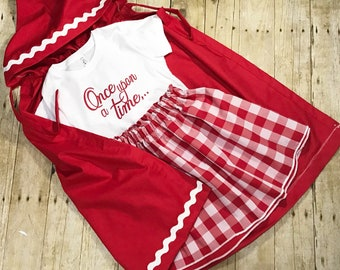 Little red riding hood set once upon a time costume dress up