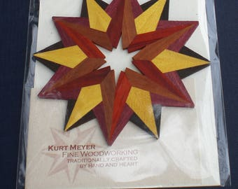 12-Pointed Star of Bethlehem Wooden Ornament / Handcrafted Mother's Day Gift